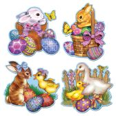 24 Units of Easter Cutouts prtd 2 sides
