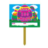 6 Units of Plastic Easter Egg Hunt Yard Sign attached to 22½  pine stake - Hanging Decorations & Cut Out