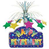 12 Units of Happy Retirement Centerpiece - Party Center Pieces