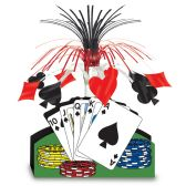 12 Units of Playing Card Centerpiece - Party Center Pieces