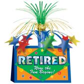 12 Units of Retired Now The Fun Begins! Centerpiece - Party Center Pieces