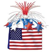 12 Units of American Flag Centerpiece - Party Center Pieces