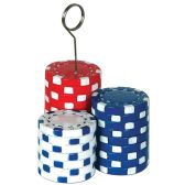 6 Units of Poker Chips Photo/Balloon Holder