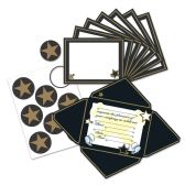 12 Units of Awards Night Invitations & Seals fold & seal into self-mailers; prtd 2 sides - Invitations & Cards