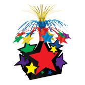 12 Units of Star Centerpiece multi-color - Party Center Pieces