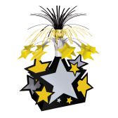 12 Units of Star Centerpiece black, gold, silver - Party Center Pieces