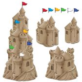 12 Units of Stackable Sandcastle Cutouts 6–3  flag cutouts included; prtd 2 sides - Hanging Decorations & Cut Out