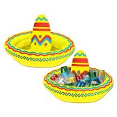 6 Units of Inflatable Sombrero Cooler holds apprx 10 12-Oz cans