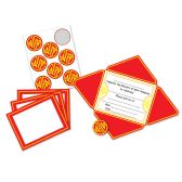 12 Units of Chinese Invitations & Seals fold & seal into self-mailers; prtd 2 sides - Invitations & Cards