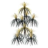12 Units of Firework Chandelier black & gold; doubles as a centerpiece - Party Center Pieces