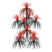 12 Units of Firework Chandelier black & red; doubles as a centerpiece - Party Center Pieces