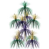 12 Units of Firework Chandelier gold, green, purple; doubles as a centerpiece - Party Center Pieces