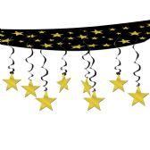 6 Units of The Stars Are Out Ceiling Decor black & gold
