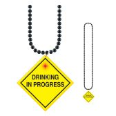 12 Units of Beads w/ Drinking In Progress  Medallion flashing - Party Necklaces & Bracelets