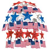 12 Units of Flag Cascade combination metallic & boardstock - Party CenterPieces
