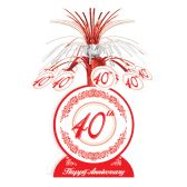 12 Units of 40th Anniversary Centerpiece - Party Center Pieces