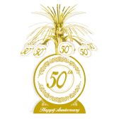12 Units of 50th Anniversary Centerpiece - Party Center Pieces