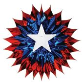12 Units of Patriotic Fan-Burst red, white, blue - Hanging Decorations & Cut Out