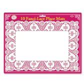 12 Units of Fanci-Lace White Bond Place Mats