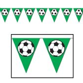 12 Units of Soccer Ball Pennant Banner all-weather; 12 pennants/string - Party Banners