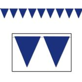 12 Units of Blue Pennant Banner all-weather; 12 pennants/string - Party Banners