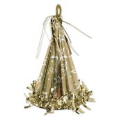 12 Units of Cone Hat Balloon Weight gold - Party Hats & Tiara