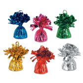 12 Units of Metallic Wrapped Balloon Weights asstd colors
