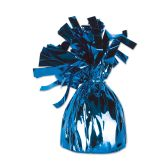 12 Units of Metallic Wrapped Balloon Weight blue