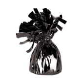 12 Units of Metallic Wrapped Balloon Weight black