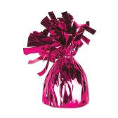 12 Units of Metallic Wrapped Balloon Weight cerise
