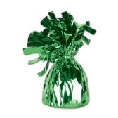 12 Units of Metallic Wrapped Balloon Weight green