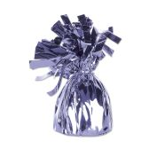 12 Units of Metallic Wrapped Balloon Weight lavender