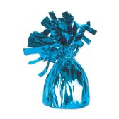 12 Units of Metallic Wrapped Balloon Weight lt blue