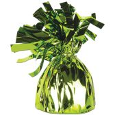 12 Units of Metallic Wrapped Balloon Weight lt green