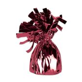 12 Units of Metallic Wrapped Balloon Weight maroon
