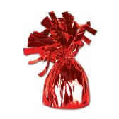 12 Units of Metallic Wrapped Balloon Weight red