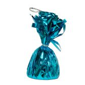 12 Units of Metallic Wrapped Balloon Weight turquoise