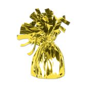 12 Units of Metallic Wrapped Balloon Weight yellow cellophane