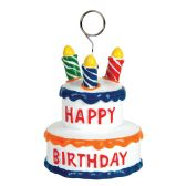 6 Units of Birthday Cake Photo/Balloon Holder