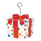6 Units of Polka Dots Gift Box Photo/Balloon Holder - Balloons & Balloon Holder