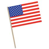 144 Units of American Flag - Plastic w/7½  wooden stick