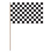 144 Units of Checkered Flag - Plastic w/7½  wooden stick