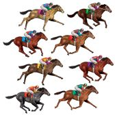 "12 Units of Race Horse Props insta-theme 29"" - Party Novelties"