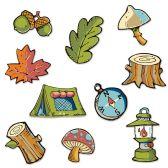 24 Units of Mini Woodland Friends Cutouts prtd 2 sides - Hanging Decorations & Cut Out
