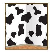 6 Units of Cow Print Backdrop insta-theme - Party Novelties