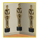 6 Units of Awards Night Male Statuettes Backdrop insta-theme - Party Novelties