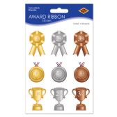 12 Units of Award Ribbon Stickers