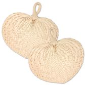 6 Units of Raffia Fans no retail packaging - Party Novelties