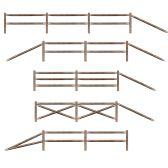 6 Units of Split Rail Fence Props