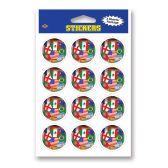 12 Units of Stickers - International